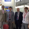 Sandro Salmoiraghi and the exhibition team